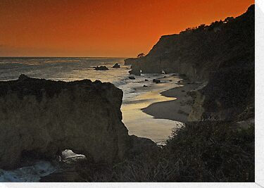 Sunset at Malibu by Mariann Kovats