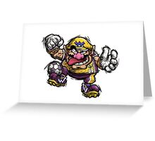 Mario Striker - Wario Greeting Card