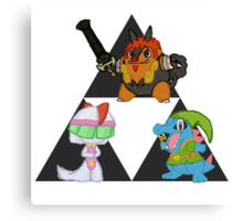 Pokemon Triforce Canvas Print