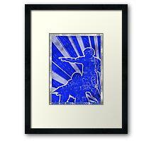 FC BLUE Army Propaganda (Weathered) Framed Print