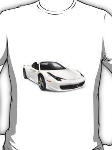 Ferrari 458 Spider supercar sports car art photo print T-Shirt