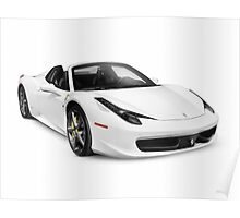 Ferrari 458 Spider supercar sports car art photo print Poster