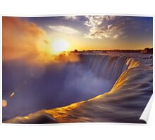 Niagara Falls beautiful sunrise scenery art photo print Poster