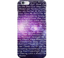 All Time Low Song List Galaxy iPhone Case/Skin