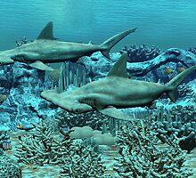 Hammerhead Sharks by Walter Colvin