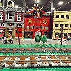 Lego Trains, Lego Village, Greenberg's Train and Toy Show, Edison, New Jersey  by lenspiro