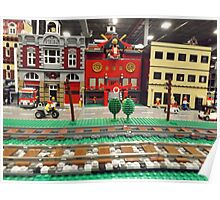 Lego Trains, Lego Village, Greenberg's Train and Toy Show, Edison, New Jersey  Poster