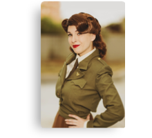 Tanya Wheelock as Peggy Carter (Photography by David Skirmont, with Additional Editing by Tascha Dearing) Canvas Print