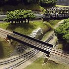 Scale Model Trains, Scale Model Buildings, Greenberg's Train and Toy Show, Edison, New Jersey  by lenspiro