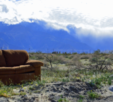 A Couch in the Desert  Sticker