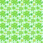 Shamrocks With Green Gingham Pattern by ArtVixen