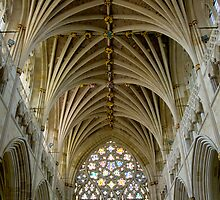 Cathedral St. Peter in Exeter by Klaus Offermann