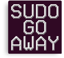 >sudo go away Canvas Print