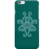 Intricate Teal Blue Octopus iPhone Case/Skin
