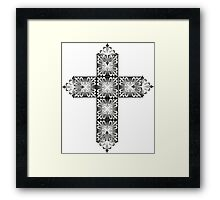 Decorative cross icon for web-page, scrap-booking, backgrounds and more Framed Print
