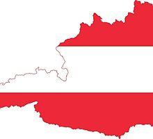 Austria Flag Map by abbeyz71