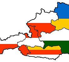 Austria States Flag Map by abbeyz71