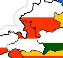 Austria States Flag Map Sticker
