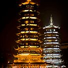 Night Pagodas by phil decocco
