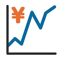 Chart With Upwards Trend And Yen Sign Google Hangouts / Android Emoji by emoji
