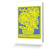 Stepney Flowers Yellow Blue Greeting Card