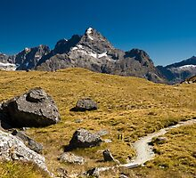 mountains on routeburn track by peterwey