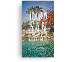 Cabo San Lucas Typography Print Canvas Print