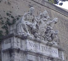 Entrance to the Vatican, Depicting Michelangelo and Raphael  by NeedMoreArt