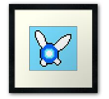 Pixelated Navi (Legend of Zelda) Framed Print