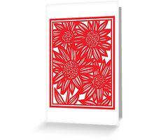 Villarrvel Flowers Red White Greeting Card