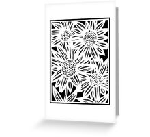 Pisula Flowers Black and White Greeting Card