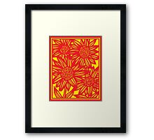 Covone Flowers Yellow Red Framed Print