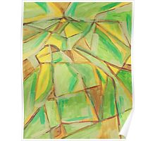 Abstract Landscape, Aerial View Acrylic Painting  Poster