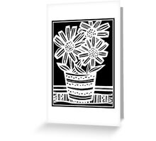 Nonemaker Flowers Black and White Greeting Card