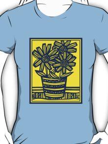 Fogo Flowers Yellow Blue T-Shirt