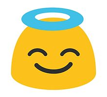 Smiling Face With Halo Google Hangouts / Android Emoji by emoji