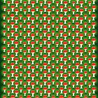 santa's little helper wrapping paper by glitchpop