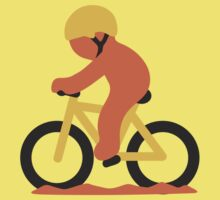 Mountain Bicyclist Google Hangouts / Android Emoji Kids Clothes