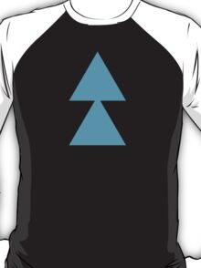 Black Up-Pointing Double Triangle Google Hangouts / Android Emoji T-Shirt
