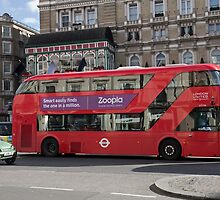 Red London Bus by Keith Larby