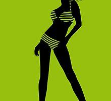 bikini girl 4 by Micheline Kanzy