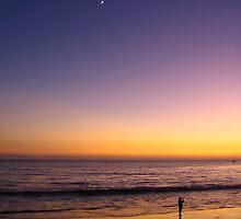 A Triad of Sunset Jewels, Butterfly Beach, Santa Barbara, CA 2008 by J.D. Grubb