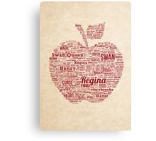Regina Typography Canvas Print