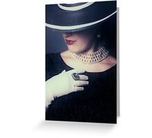 mysterious lady Greeting Card