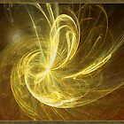 Moonlit Golden Fractal by AngelMist