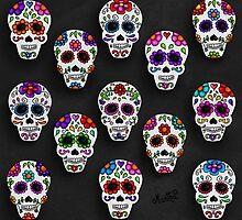 Martha´s mexican skulls (calacas) II by mmducoing