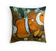 Clown Anemone Throw Pillow