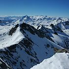 Looking South fron the top of the Sana - French Alps by Peak Photographics