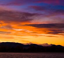Sunset Pano II by Jay Ryser