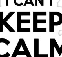 I cant keep calm Im a WANDRACK Sticker